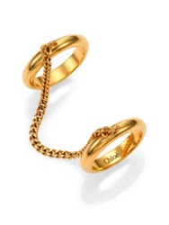 Chlo Carly Chain And Band Double Ring Gold