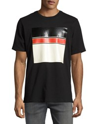Rag And Bone Colorblock Logo Graphic Crewneck T Shirt Black