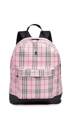 Opening Ceremony Plaid Backpack Pink