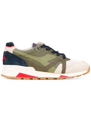 Diadora N9000 Heritage Sneakers Men Cotton Leather Rubber 44 Green