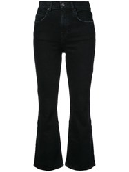 Proenza Schouler Pswl Cropped Flare Jeans Black
