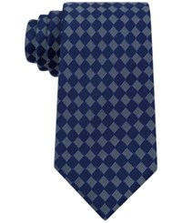 Sean John Men's Small Boxes Tie Navy