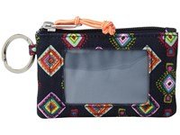 Vera Bradley Lighten Up Zip Id Case Mini Medallions Wallet Black