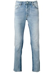 Marcelo Burlon County Of Milan Vintage Wash Slim Jeans Blue