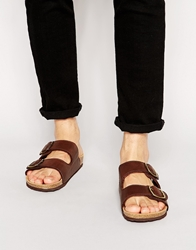 Original Penguin Slip On Sandals Brown