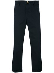Visvim Cropped Tailored Trousers Men Cotton 3 Blue