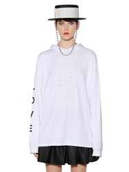 Alyx Hooded Printed Cotton Jersey Sweatshirt