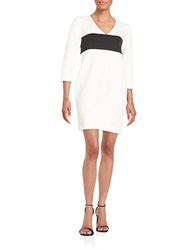Rachel Roy Quilted Shift Dress White
