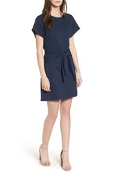 Lush Tie Waist T Shirt Dress Navy