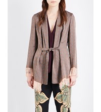 Etro Metallic Brocade Blazer Brown
