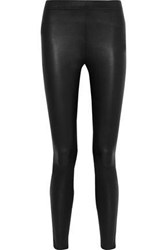 Iris And Ink Woman Stretch Leather Leggings Black