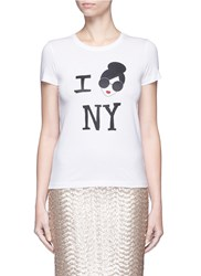 Alice Olivia 'Stace Face I Love Ny' Print T Shirt White