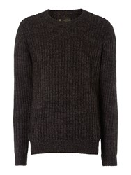 Label Lab Dean Multicoloured Crew Neck Jumper Purple Marl