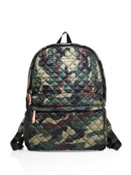 M Z Wallace Metro Camo Quilted Nylon Backpack Green Camo