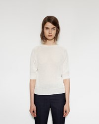 Margaret Howell Cast Off Roll Neck Sweater Ecru
