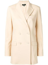 Theory Double Breasted Blazer Neutrals