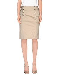 Tommy Hilfiger Skirts Knee Length Skirts Women Beige