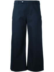 Valentino Cropped Trousers Blue