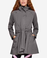 Under Armour Misty Copeland Hooded Trench Jacket Mink Gray