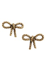 Marc By Marc Jacobs Women's Marc Jacobs Rope Bow Stud Earrings Gold