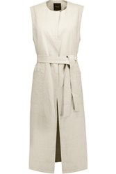 Theory Skea Linen Blend Vest Neutral