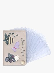 Radley Be Leaf In Yourself Leather Cardholder Grey