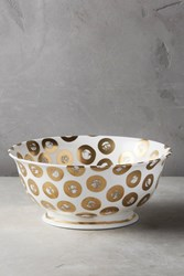 Anthropologie Tempio Luna Serving Bowl Gold