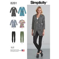 Simplicity Women's Wrap Tunic And Knit Leggings Sewing Pattern 8261