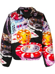 Supreme Casino Print Puffer Jacket Black
