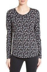 Rebecca Taylor Women's Midnight Floral Jersey Top