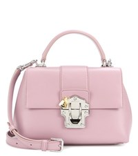 Dolce And Gabbana Lucia Leather Shoulder Bag Pink