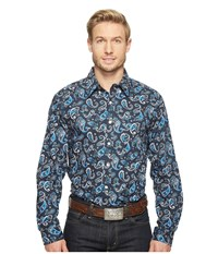 Cinch Modern Fit Basic Print Navy Men's Clothing