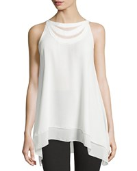 Max Studio Braided Neck Swing Tank Ivory