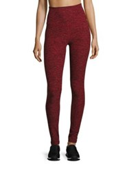 Beyond Yoga Spacedye High Waist Leggings Black Chili Red