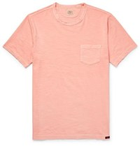 Faherty Slim Fit Garment Dyed Slub Cotton Jersey T Shirt Pink
