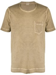 Massimo Alba Chest Pocket T Shirt Neutrals