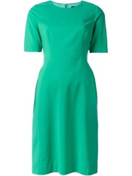 Paul Smith Black Label Short Sleeve Fitted Dress Green