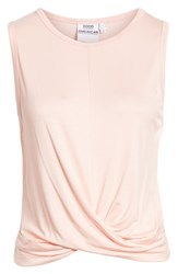 Good American Plus Size Knotted Tank Top Blush001