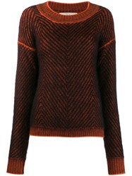 Tela Zigzag Pattern Jumper Black