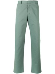 Jil Sander Straight Leg Chinos Green