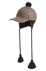 Gucci Men's Knit Earflap Houndstooth Cap