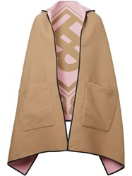 Burberry Reversible Jacquard Logo Hooded Cape 60