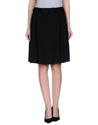 Edward Achour Knee Length Skirts Black