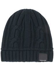 Canada Goose Cable Knit Beanie Black