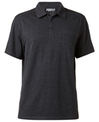 Fox Men's Legacy Heathered Polo Heather Black