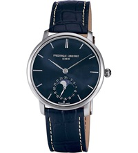 Frederique Constant Fc705n4s6 Constant Slimline Stainless Steel And Alligator Leather Watch