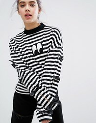 Lazy Oaf Bow Tie Long Sleeve T Shirt Multi