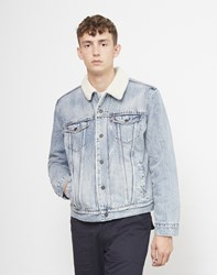 Levi's Type 3 Sherpa Trucker Jacket Light Blue