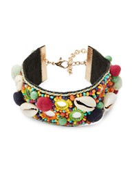 Design Lab Lord And Taylor Shell Beaded Bracelet Multicolor