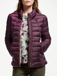 Gerry Weber Quilted Jacket Mauve Wine